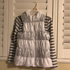 Girls Casual Vest with Matching Top